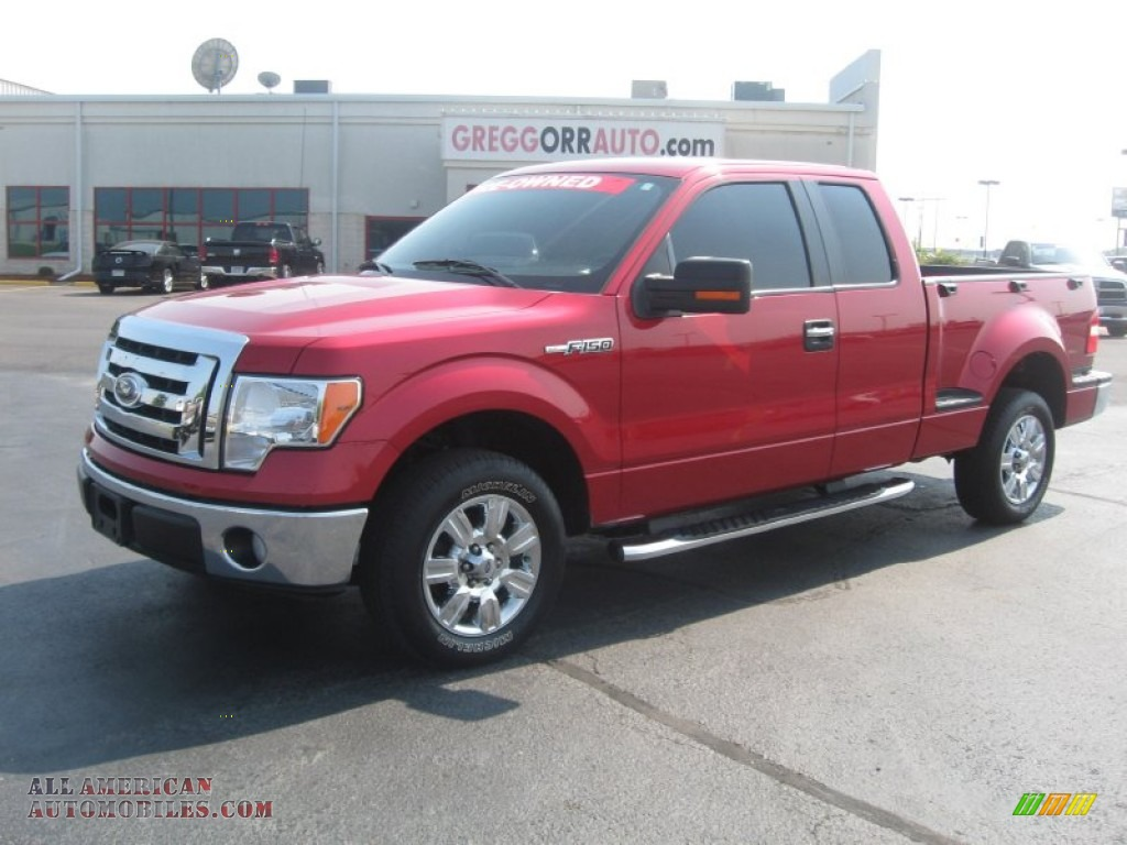 2009 ford f150 xlt supercab in razor red metallic b66871 all american automobiles buy. Black Bedroom Furniture Sets. Home Design Ideas