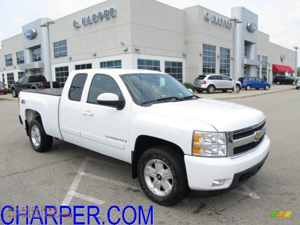 2008 Chevrolet Silverado 1500 Z71 Extended Cab 4x4 In Summit White 133891 All American
