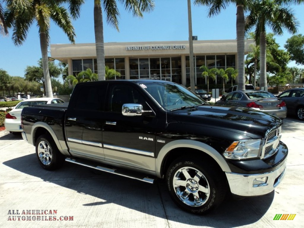 2009 dodge ram 1500 laramie crew cab 4x4 in brilliant black crystal. Cars Review. Best American Auto & Cars Review