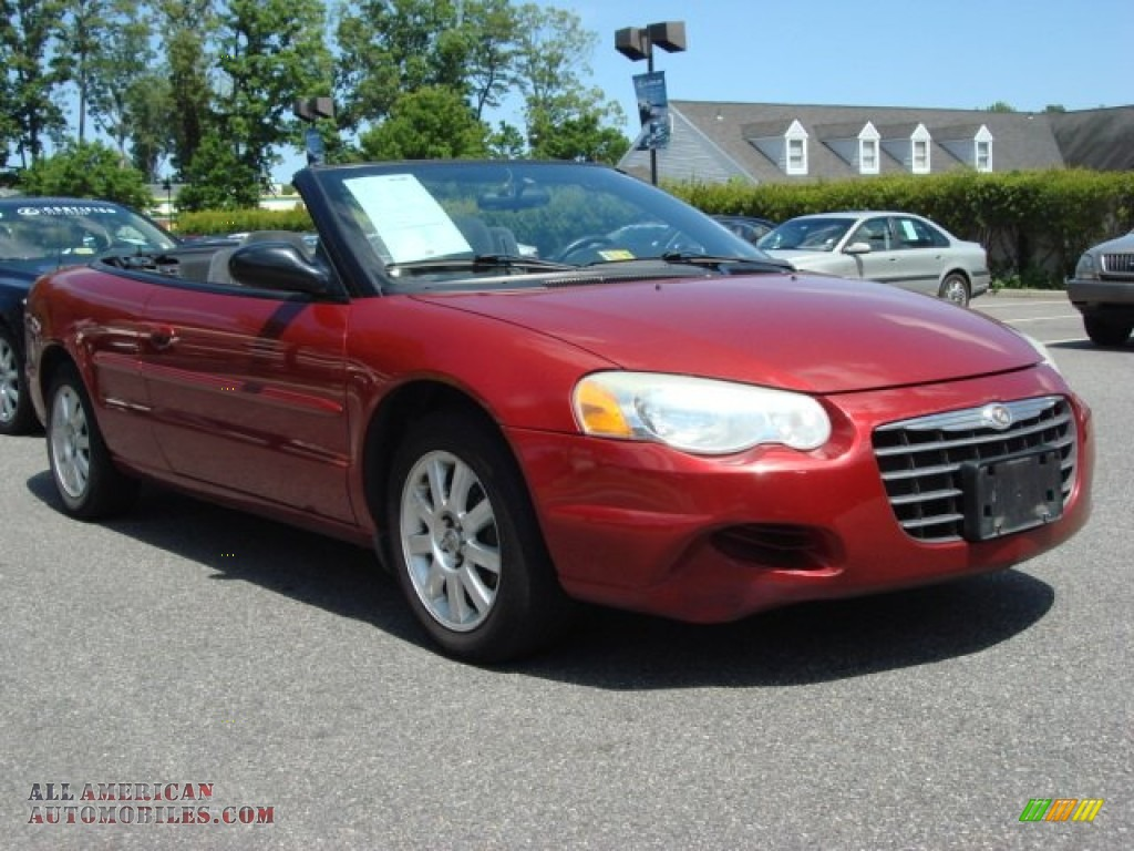 2004 Chrysler Sebring Gtc Convertible In Inferno Red Pearl