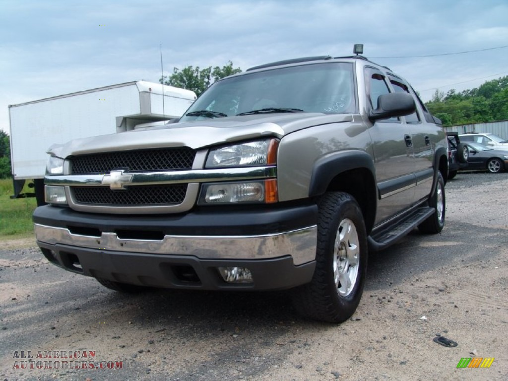 2003 chevrolet avalanche 1500 z71 4x4 in light pewter metallic 247068 all american. Black Bedroom Furniture Sets. Home Design Ideas