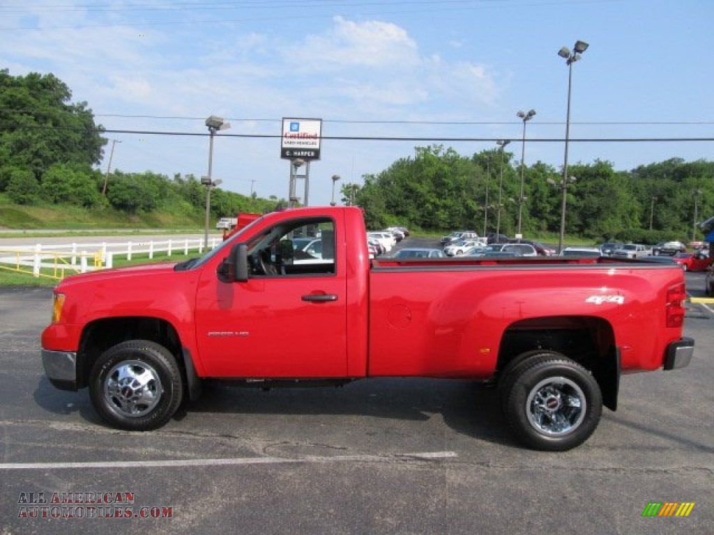 2010 gmc sierra 3500hd sle regular cab 4x4 dually in fire red photo 7 154045 all american. Black Bedroom Furniture Sets. Home Design Ideas