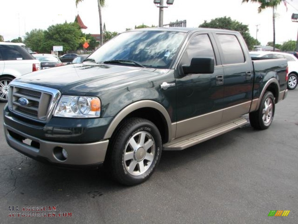 2006 Ford F150 King Ranch Supercrew In Aspen Green Metallic Photo 5 F 150 Castano Brown Leather