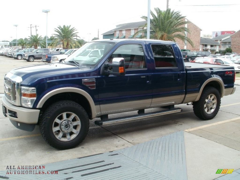 2009 Ford F250 Super Duty King Ranch Crew Cab 4x4 In Dark Blue Pearl Metallic Photo 5 A33950