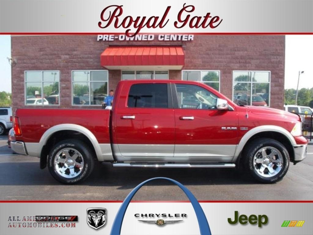 2009 dodge ram 1500 laramie crew cab 4x4 in inferno red for Royal chrysler motors inc