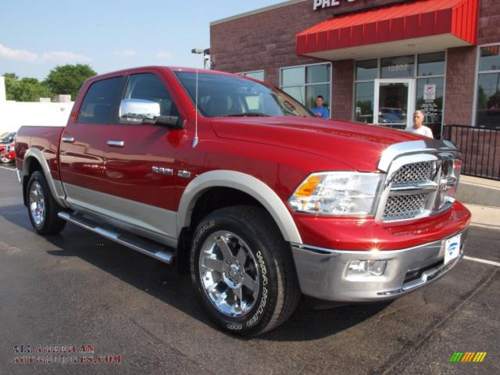2009 dodge ram 1500 laramie crew cab 4x4 in inferno red crystal pearl photo 2 512438 all. Black Bedroom Furniture Sets. Home Design Ideas