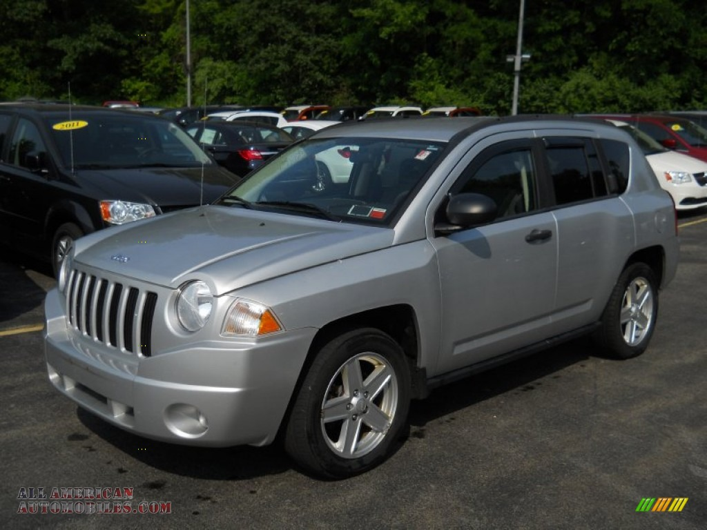 2007 jeep compass sport 4x4 in bright silver metallic 171013 all american automobiles buy. Black Bedroom Furniture Sets. Home Design Ideas
