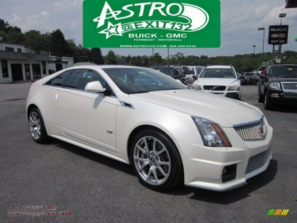 2011 Cadillac Cts V Coupe In White Diamond Tricoat