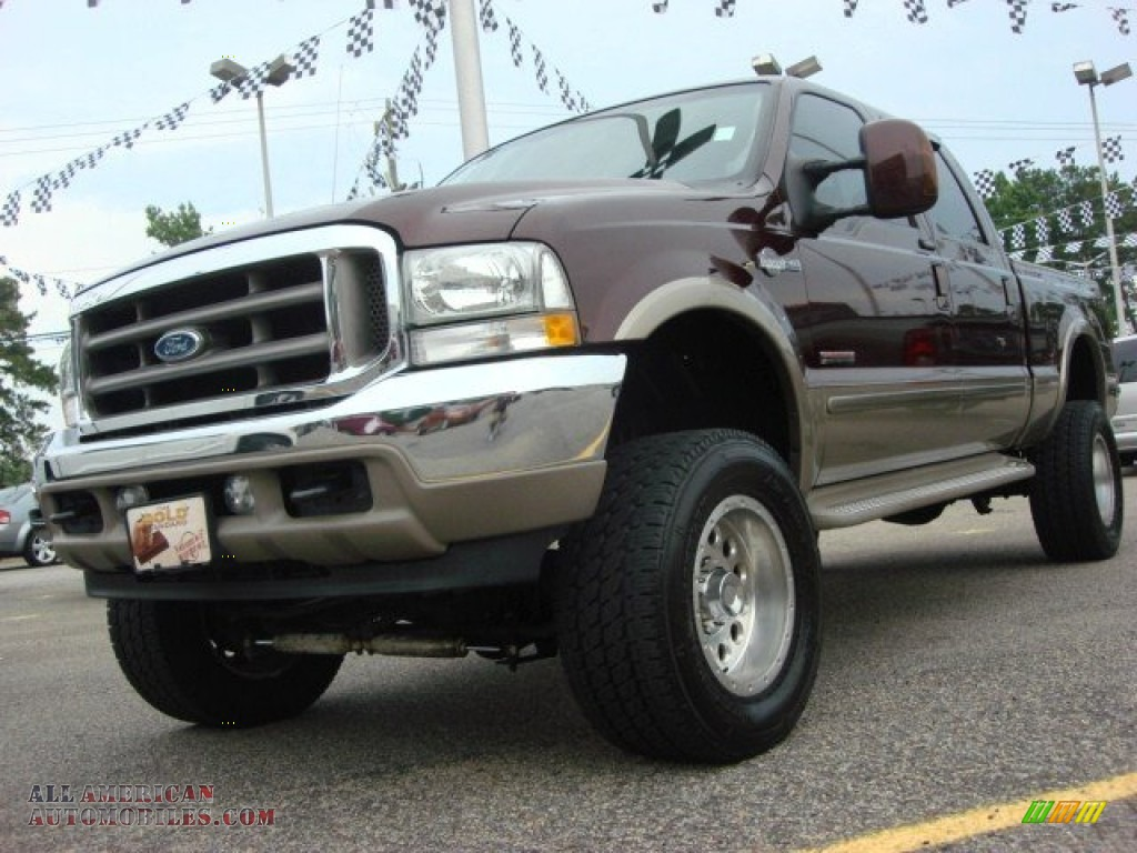 2004 Ford F350 Super Duty King Ranch Crew Cab 4x4 In Chestnut Brown Metallic Castano Leather
