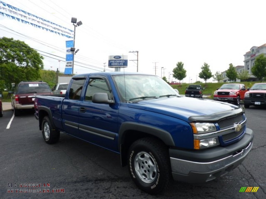 2004 Silverado 1500 Z71 Extended Cab 4x4 - Arrival Blue Metallic / Medium Gray photo #1