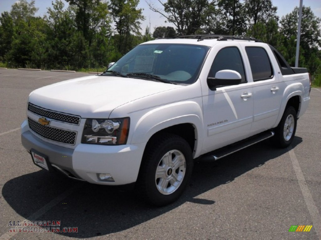 2011 chevrolet avalanche z71 4x4 in summit white 344237 all american automobiles buy. Black Bedroom Furniture Sets. Home Design Ideas