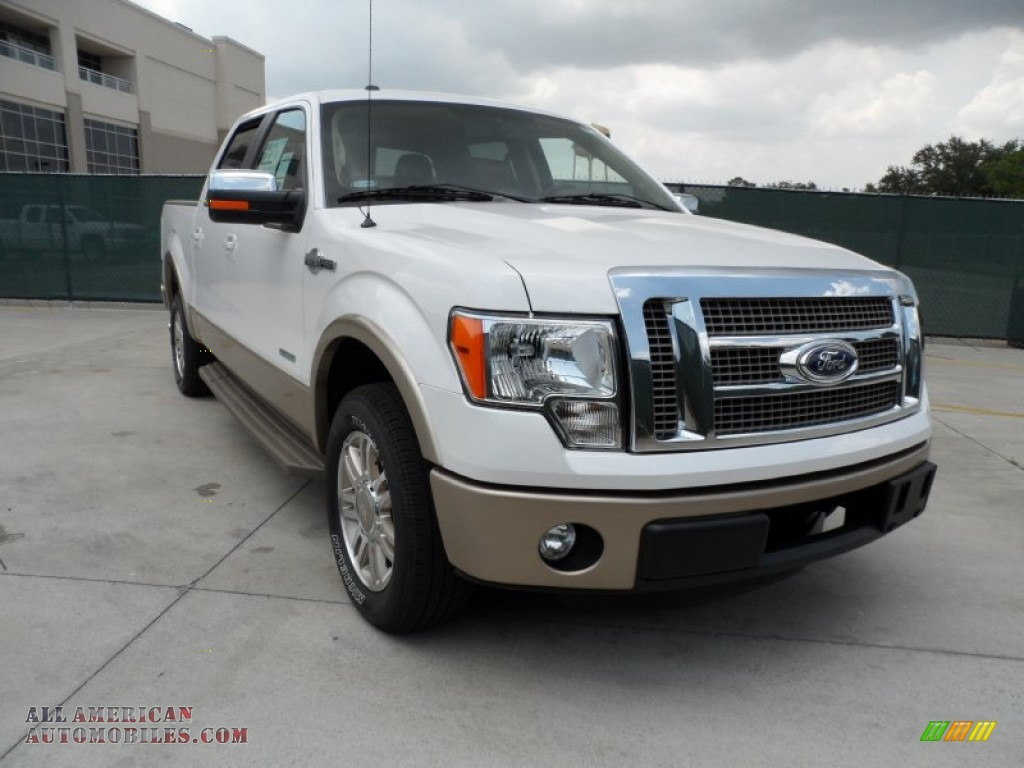 2011 ford f150 king ranch supercrew in white platinum metallic tri coat d71235 all american. Black Bedroom Furniture Sets. Home Design Ideas