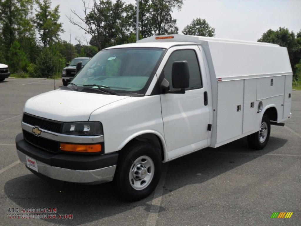 2011 chevrolet express cutaway 3500 utility van in summit white 114299 all american. Black Bedroom Furniture Sets. Home Design Ideas