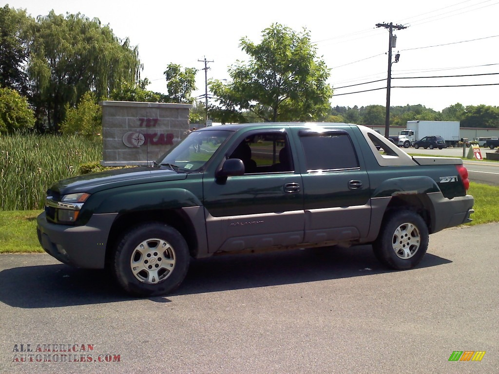 2002 chevrolet avalanche z71 4x4 in forest green metallic 297767 all american automobiles. Black Bedroom Furniture Sets. Home Design Ideas