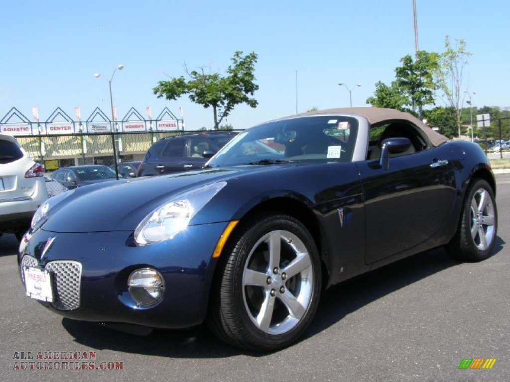 2008 pontiac solstice roadster in deep blue 108581 all american automobiles buy american. Black Bedroom Furniture Sets. Home Design Ideas
