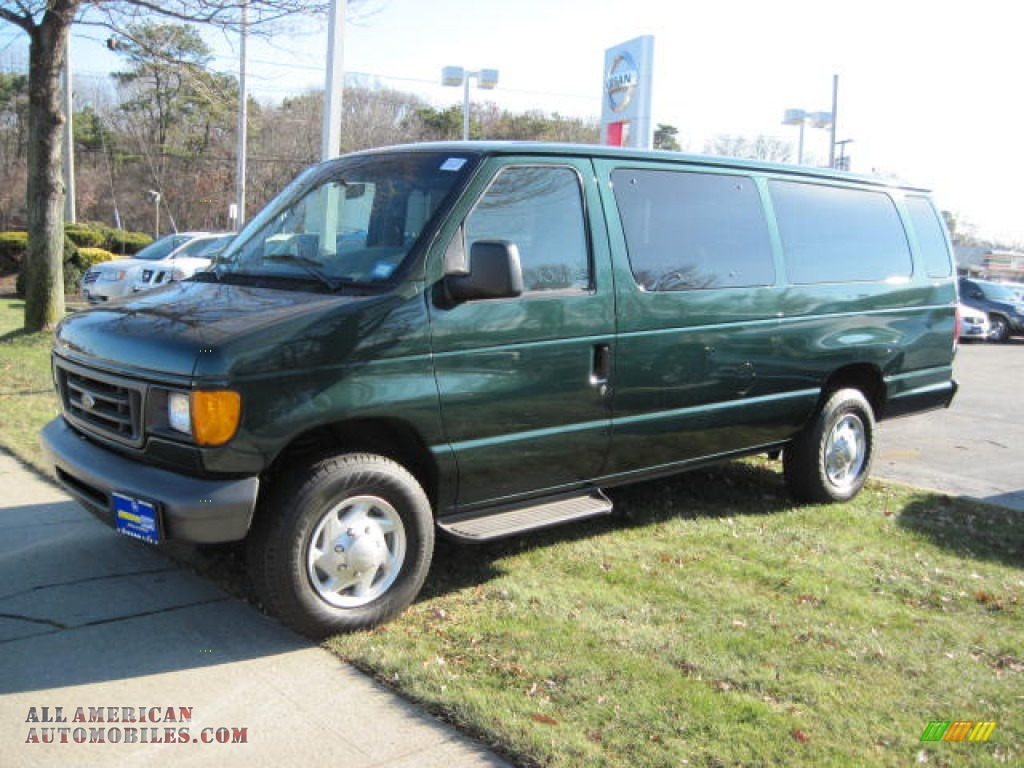 2007 ford e series van e350 super duty xl 15 passenger in forest green metallic b34474 all. Black Bedroom Furniture Sets. Home Design Ideas