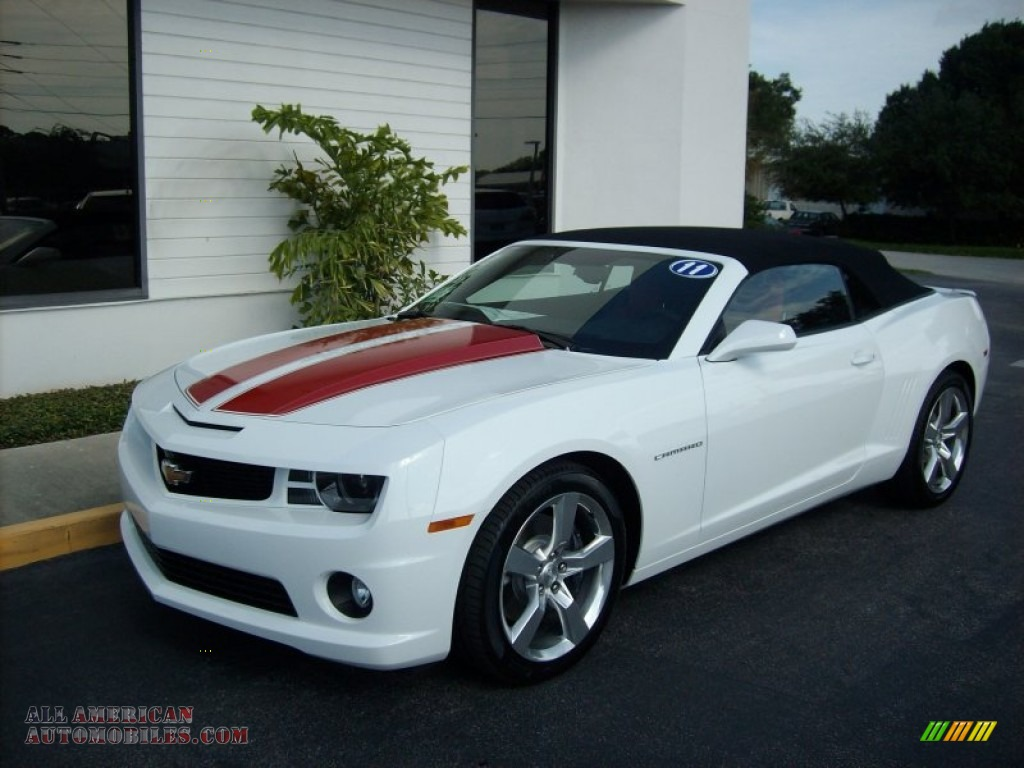 2011 chevrolet camaro ss rs convertible in summit white 208336 all american automobiles. Black Bedroom Furniture Sets. Home Design Ideas