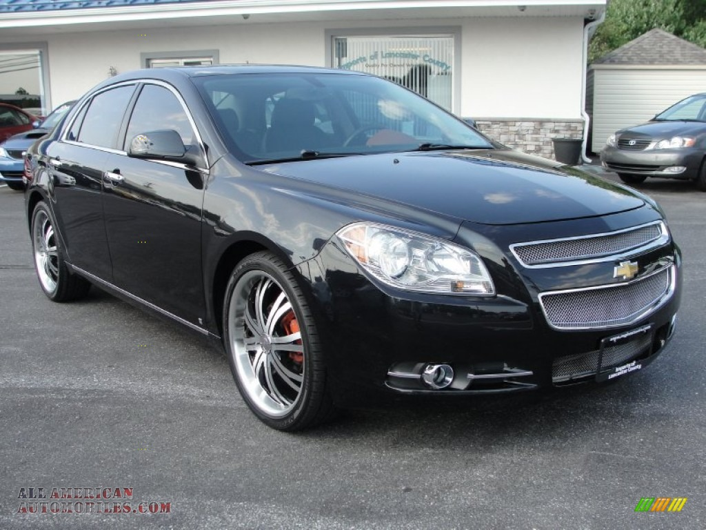 2009 chevrolet malibu ltz sedan in black granite metallic 209512 all american automobiles. Black Bedroom Furniture Sets. Home Design Ideas