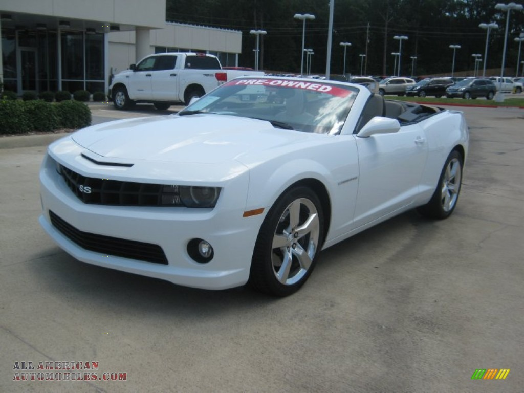 2011 chevrolet camaro ss rs convertible in summit white 172331 all american automobiles. Black Bedroom Furniture Sets. Home Design Ideas