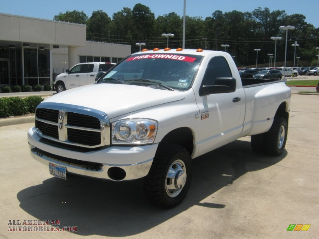 2009 dodge ram 3500 slt regular cab 4x4 dually in bright white photo 6 522507 all american. Black Bedroom Furniture Sets. Home Design Ideas