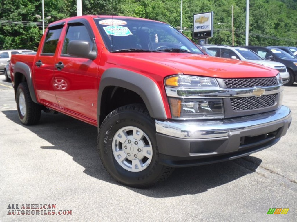 2006 Chevrolet Colorado Lt Crew Cab 4x4 In Victory Red