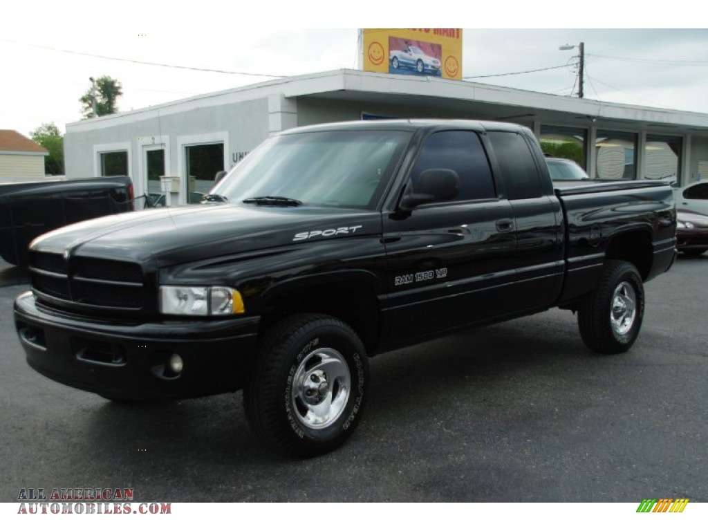 1999 dodge ram 1500 sport extended cab 4x4 in black photo 7 209257 all american automobiles. Black Bedroom Furniture Sets. Home Design Ideas