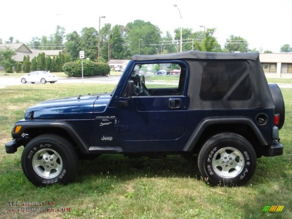 Ron Lewis Jeep >> 2001 Jeep Wrangler Sport 4x4 in Patriot Blue Pearl - 324784 | All American Automobiles - Buy ...