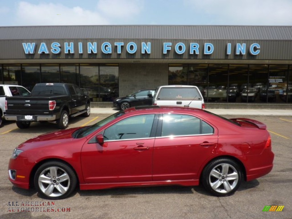 2010 ford fusion sport awd in sangria red metallic. Black Bedroom Furniture Sets. Home Design Ideas