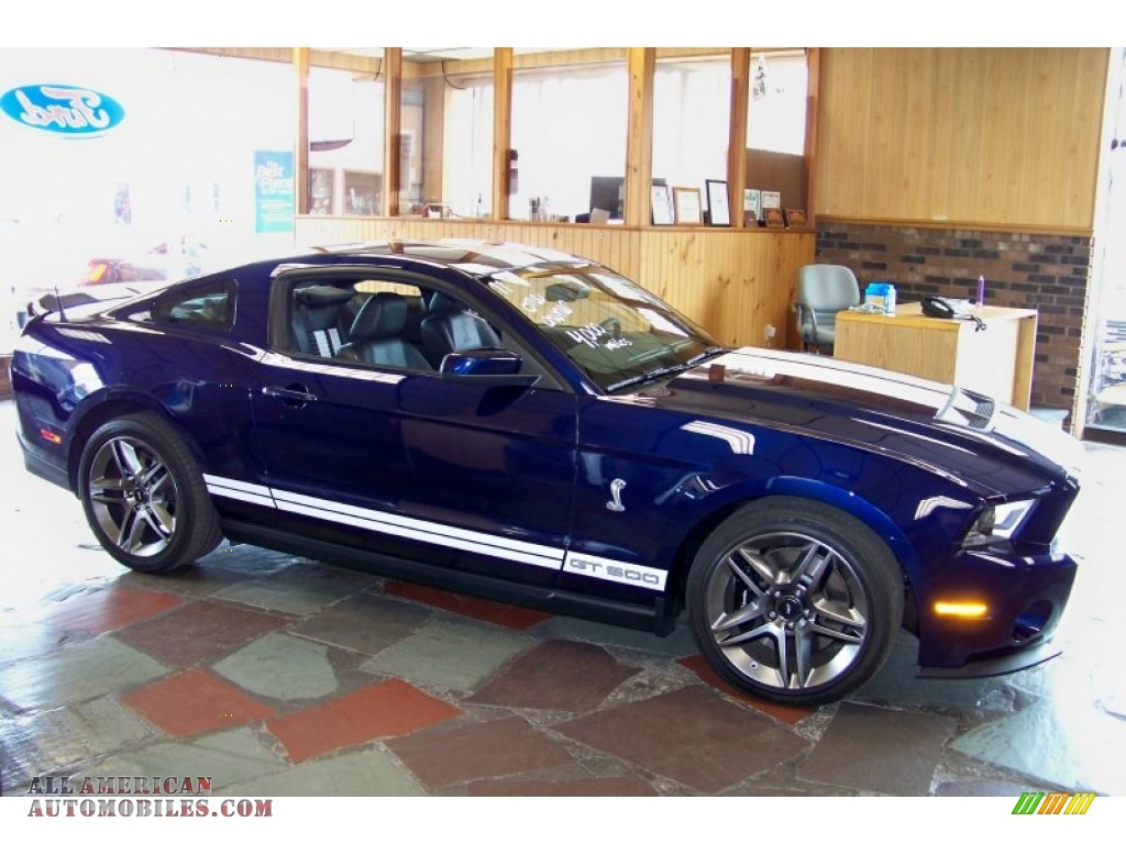 2011 Ford Mustang Shelby Gt500 Coupe In Kona Blue Metallic