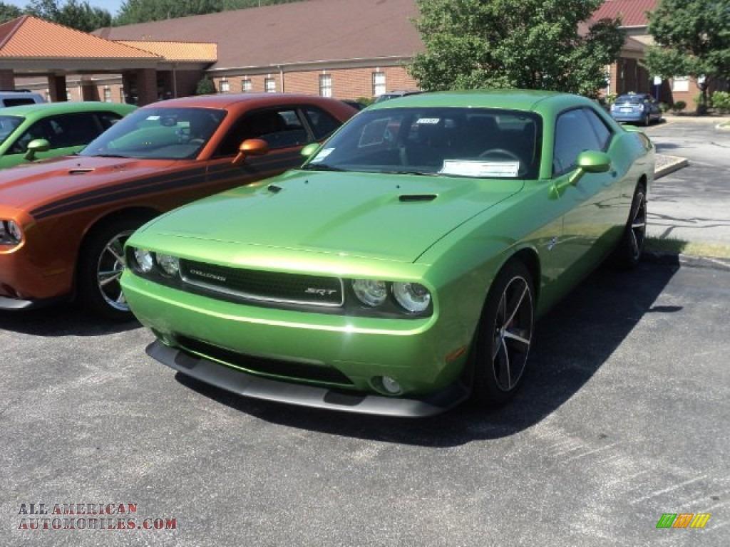 Green with envy dark slate gray dodge challenger srt8 392