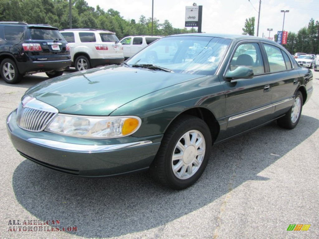 1999 lincoln continental in medium charcoal green metallic. Black Bedroom Furniture Sets. Home Design Ideas