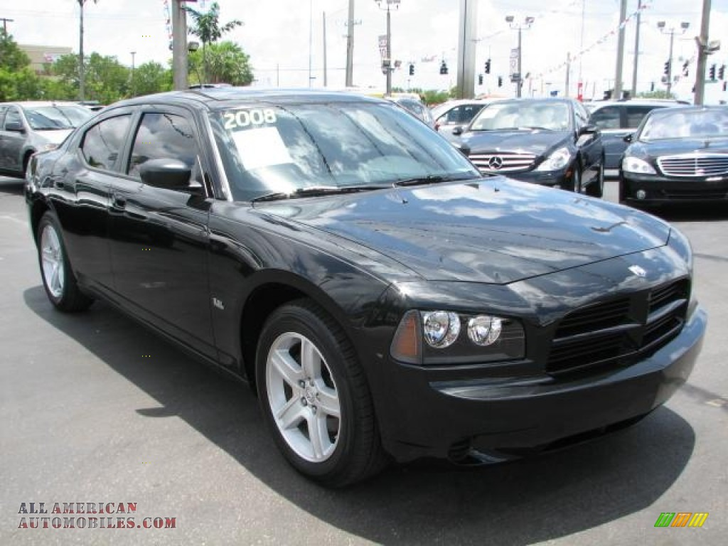 2008 dodge charger se in brilliant black crystal pearl 228288 all american automobiles buy. Black Bedroom Furniture Sets. Home Design Ideas