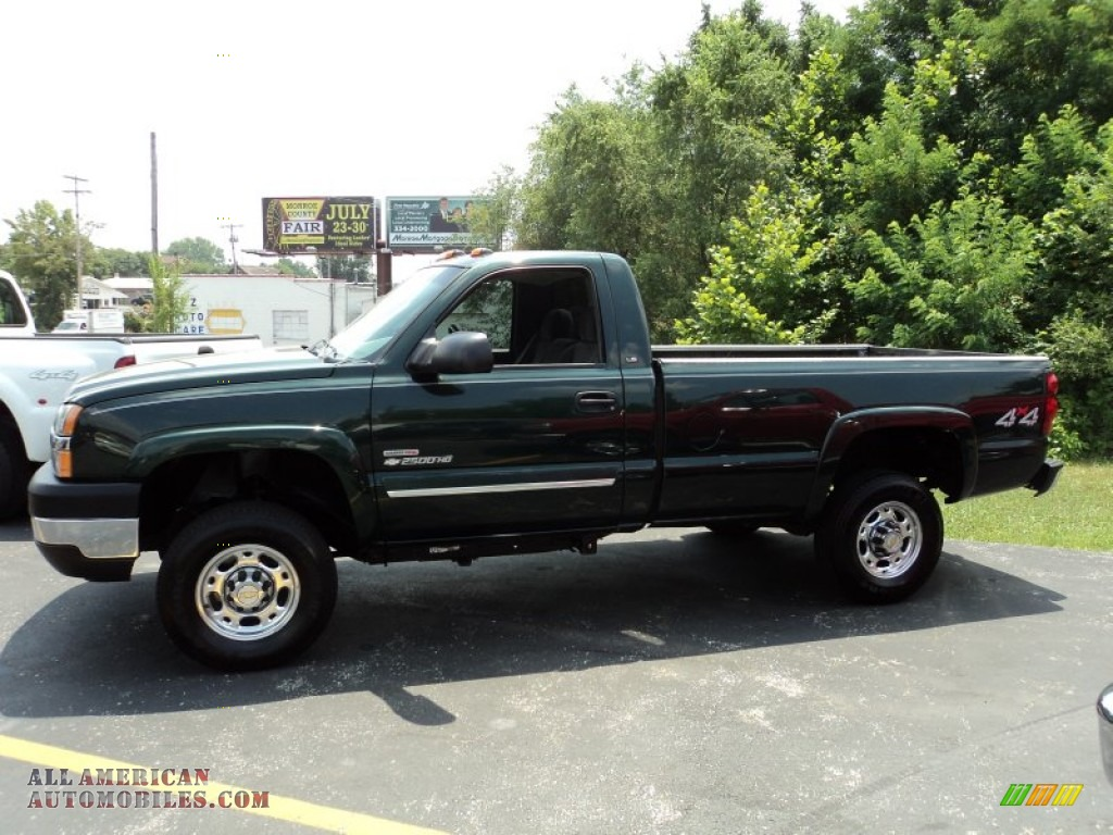 2004 chevrolet silverado 2500hd ls regular cab 4x4 in dark green metallic 159445 all. Black Bedroom Furniture Sets. Home Design Ideas