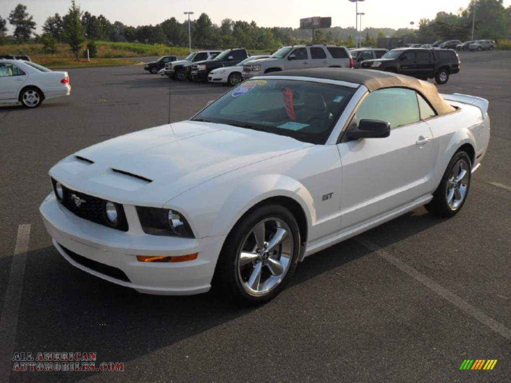 2006 ford mustang gt premium convertible in performance white 179132 all american. Black Bedroom Furniture Sets. Home Design Ideas
