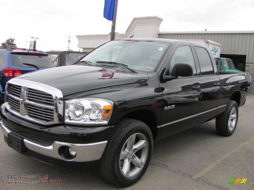2008 dodge ram 1500 big horn edition quad cab 4x4 in brilliant black crystal pearl 585773. Black Bedroom Furniture Sets. Home Design Ideas