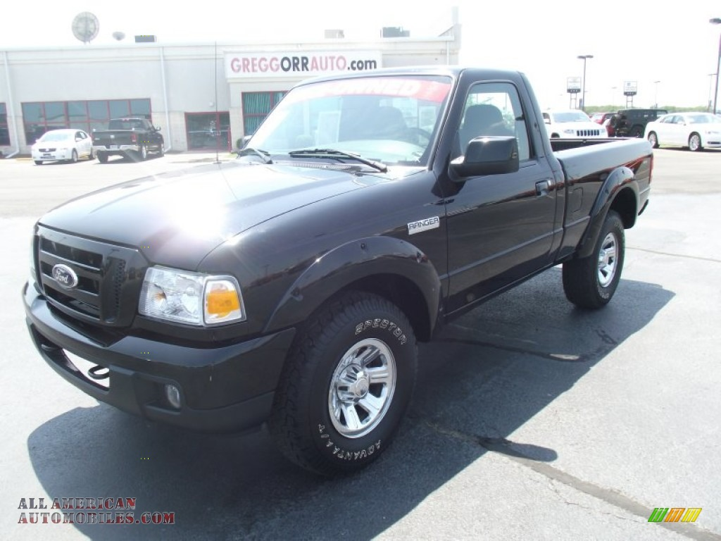 2007 ford ranger sport regular cab 4x4 in black a85124. Black Bedroom Furniture Sets. Home Design Ideas