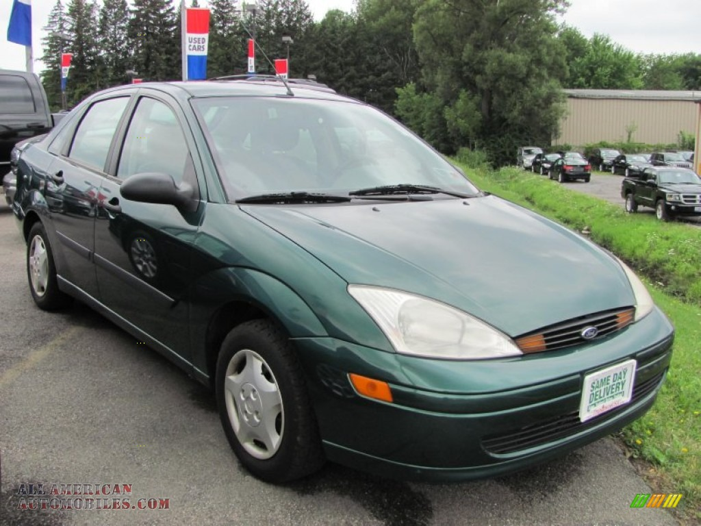 2001 ford focus lx sedan in rainforest green metallic 219694 all american automobiles buy. Black Bedroom Furniture Sets. Home Design Ideas