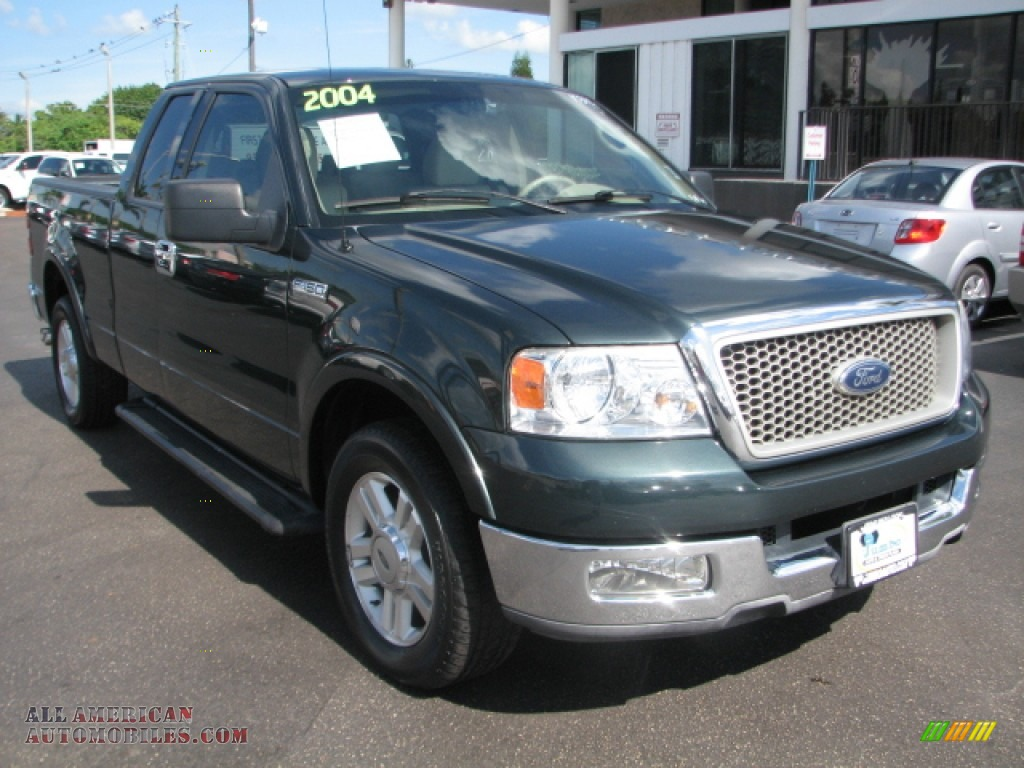 2004 Ford F150 Lariat Supercab In Aspen Green Metallic A38818 F 150 Xlt Tan Photo 1