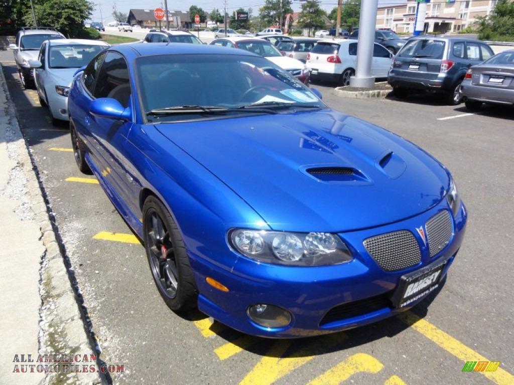 2006 Pontiac Gto Coupe In Impulse Blue Metallic Photo 11