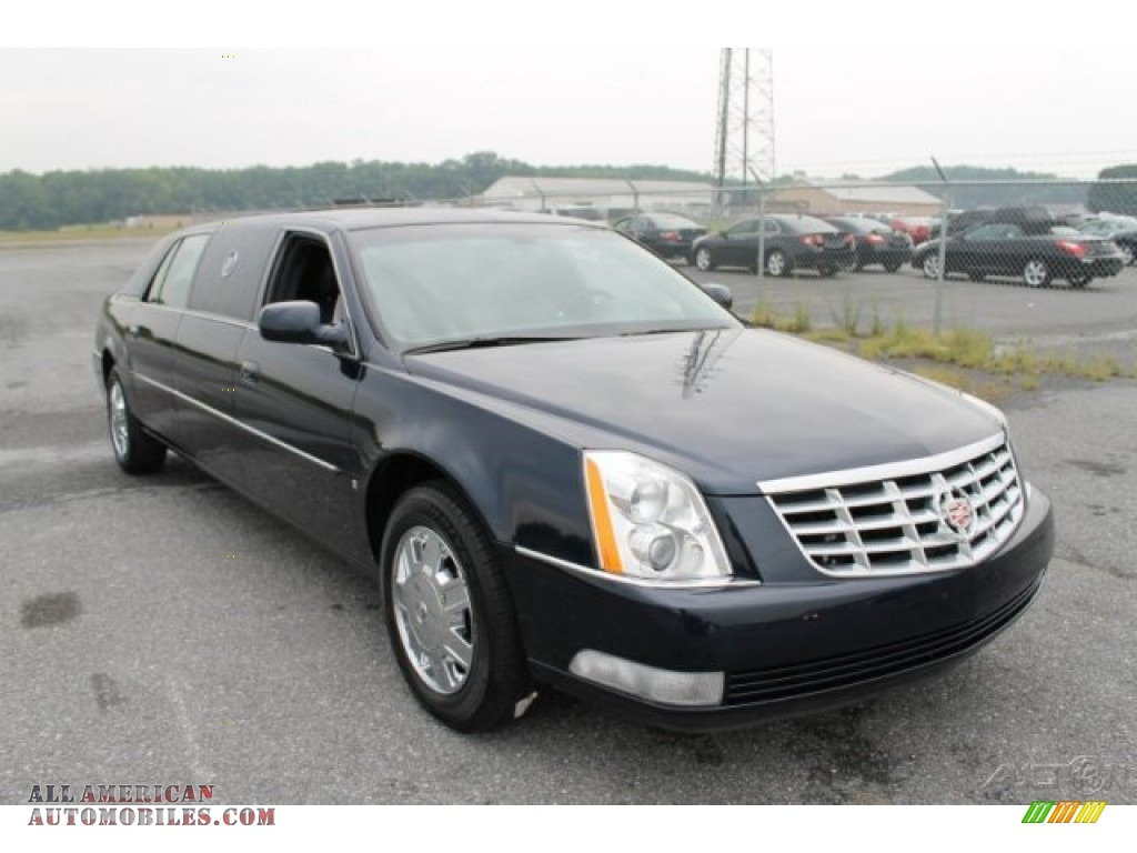 2006 cadillac dts limousine in blue chip metallic 550134 all american automobiles buy. Black Bedroom Furniture Sets. Home Design Ideas