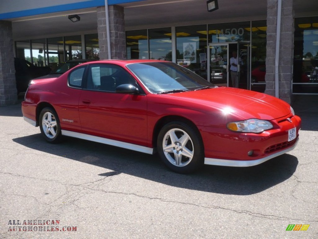2004 chevrolet monte carlo supercharged ss in victory red 187070 all american automobiles. Black Bedroom Furniture Sets. Home Design Ideas