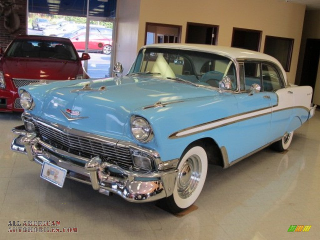 1956 chevrolet bel air 4 door hardtop in nassau blue india for 1956 chevy belair 4 door for sale