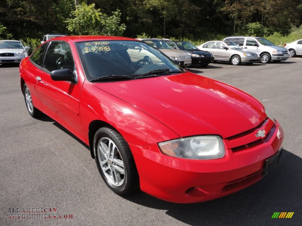 2005 Cavalier Coupe Victory Red Graphite Gray Photo 1
