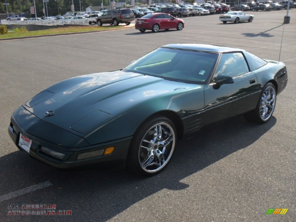 1994 corvette coupe polo green metallic light beige photo 1. Cars Review. Best American Auto & Cars Review