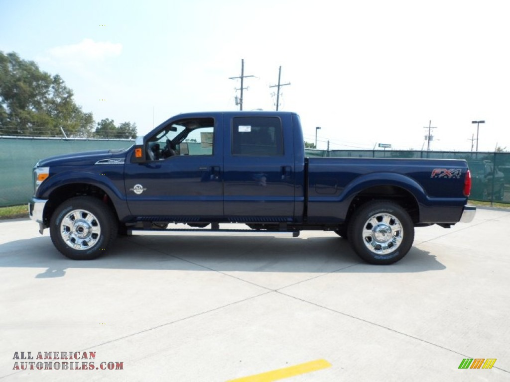 2012 ford f250 super duty lariat crew cab 4x4 in dark blue pearl metallic photo 6 a02687. Black Bedroom Furniture Sets. Home Design Ideas