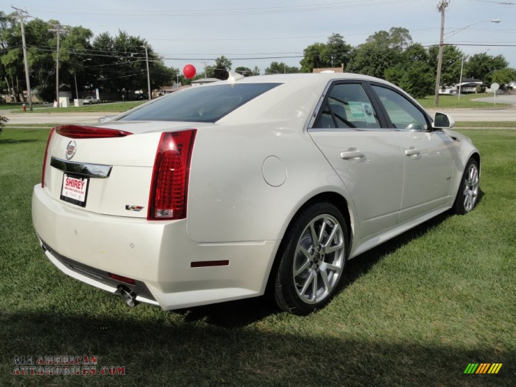 2012 cadillac cts v sedan in white diamond tricoat photo. Black Bedroom Furniture Sets. Home Design Ideas