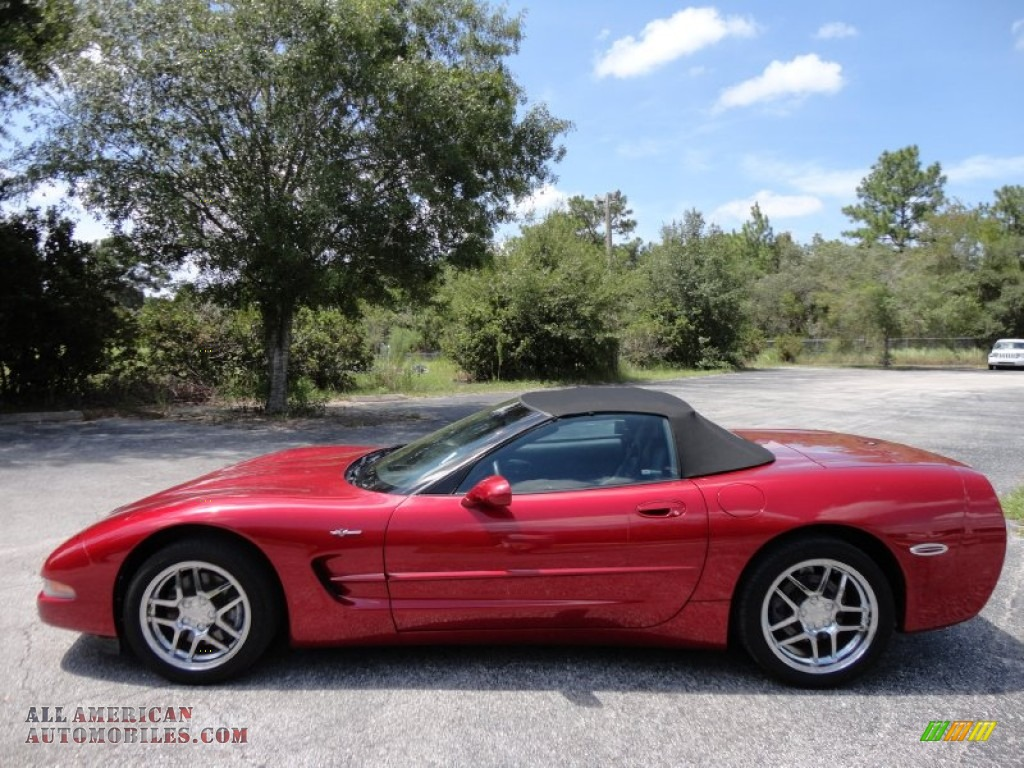 2000 Chevrolet Corvette Convertible In Magnetic Red