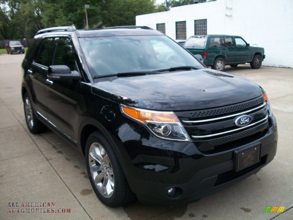 2012 explorer limited ecoboost black charcoal black photo 3 - Ford Explorer 2012 Black