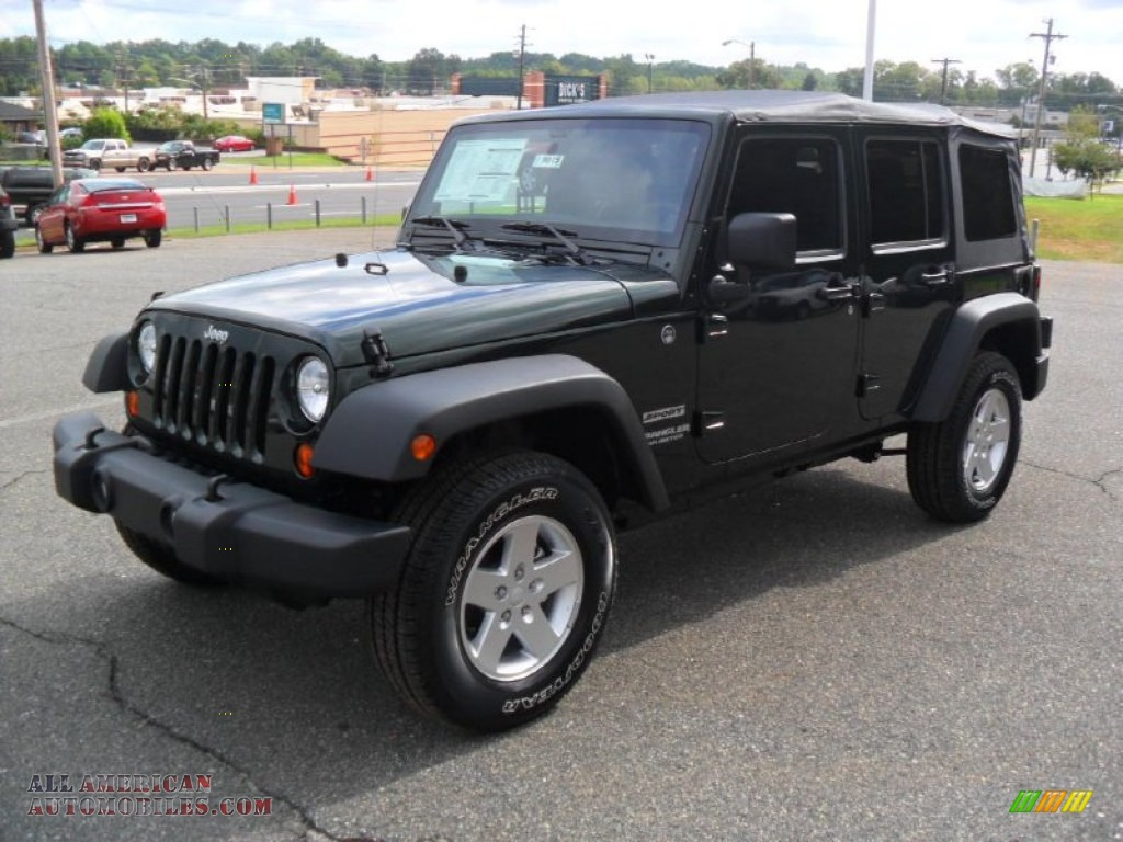 2012 jeep wrangler unlimited sport s 4x4 in natural green pearl. Cars Review. Best American Auto & Cars Review