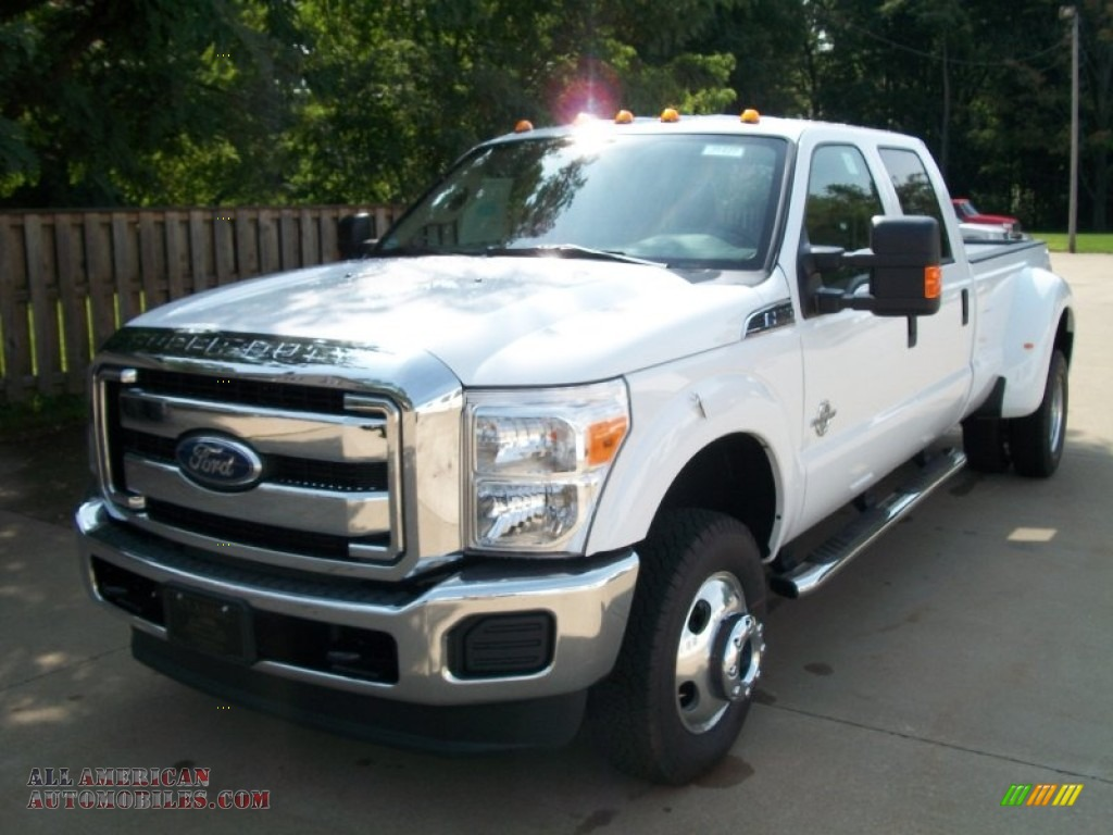 2012 ford f350 super duty xlt crew cab 4x4 dually in oxford white a24048 all american. Black Bedroom Furniture Sets. Home Design Ideas